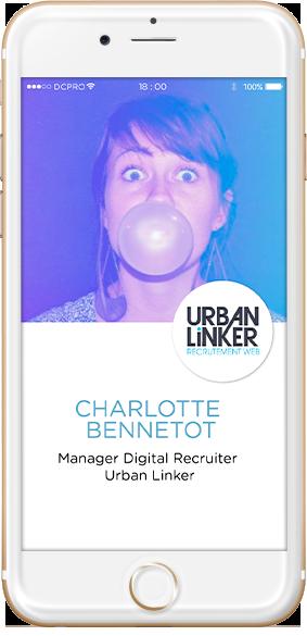 intervenants Charlotte Bennetot, Manager Digital Recruiter Urban Linker