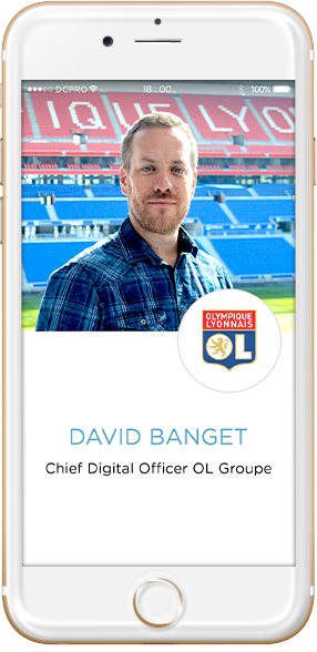 intervenants David Banget, Chief Digital Officer OL Groupe