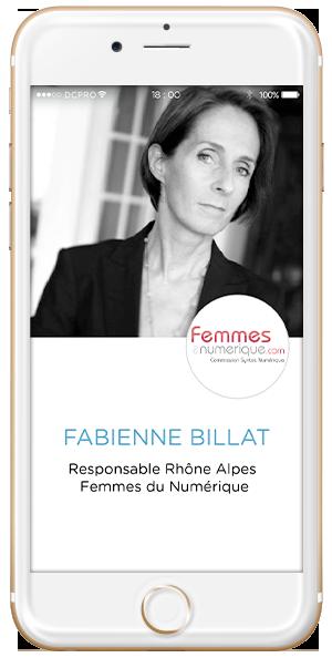 Fabienne Billat, Responsable Rhône Alpes Femmes du Numérique