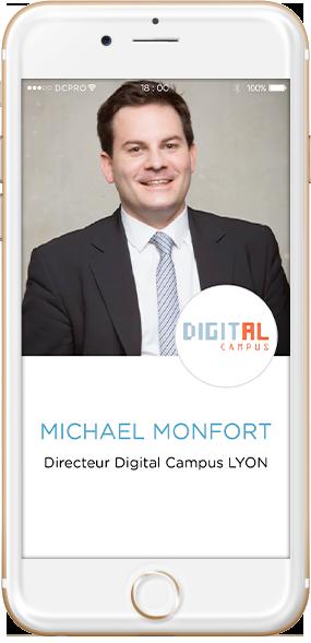 intervenants Michaël Monfort, Directeur Digital Campus